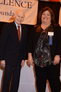 Janelle with Herb Kohl Award pic