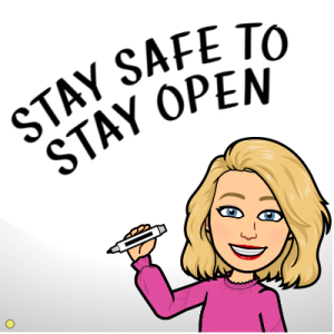 Stay Safe To Stay Open Bitmoji